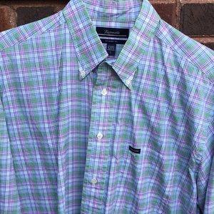 Final⚠️ Façonnable purple & green dress shirt